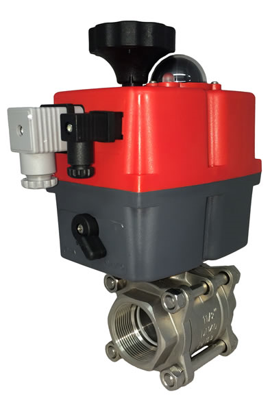 Motorized Stainless Steel Ball Valve with J+J Electric Actuator