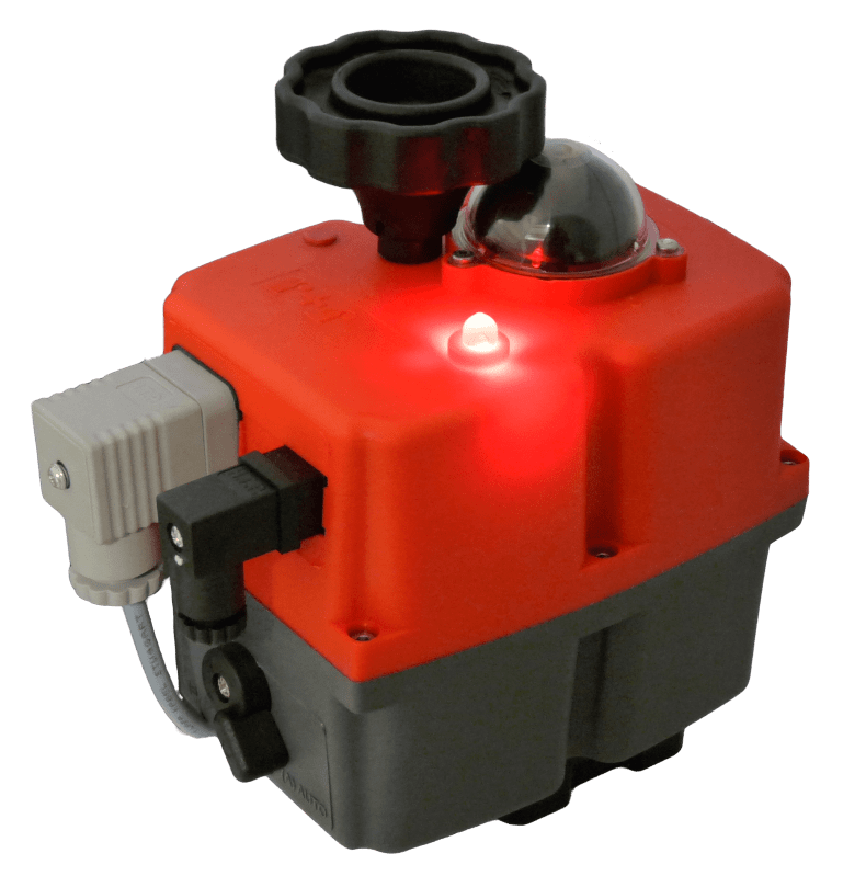 Smart J+J electrical actuator J3CS with LED status light from stock at AVS UK