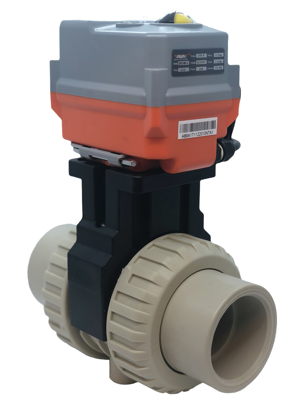 Cepex Extreme Motorized PP-H Ball Valve with AVA Electric Actuator from AVS