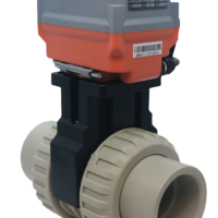 Cepex Extreme Motorised PP-H Ball Valve with AVA Electric Actuator from AVS
