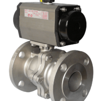 Flanged Stainless Steel Ball Valve with CH-air Pneumatic Actuator