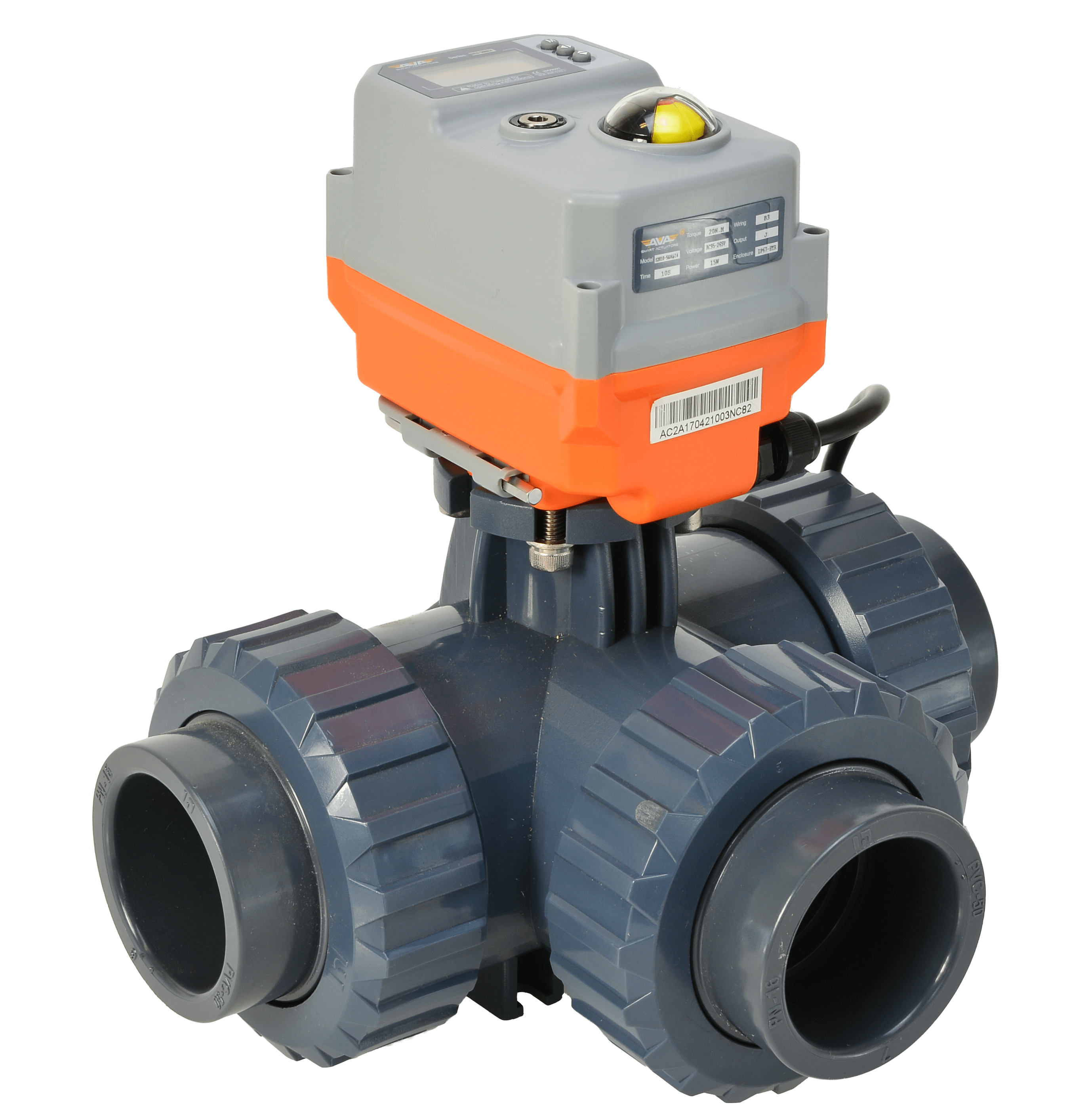 Actuated Valve - Motorised Ball Valve - Hidroten PVC 3 Way Ball