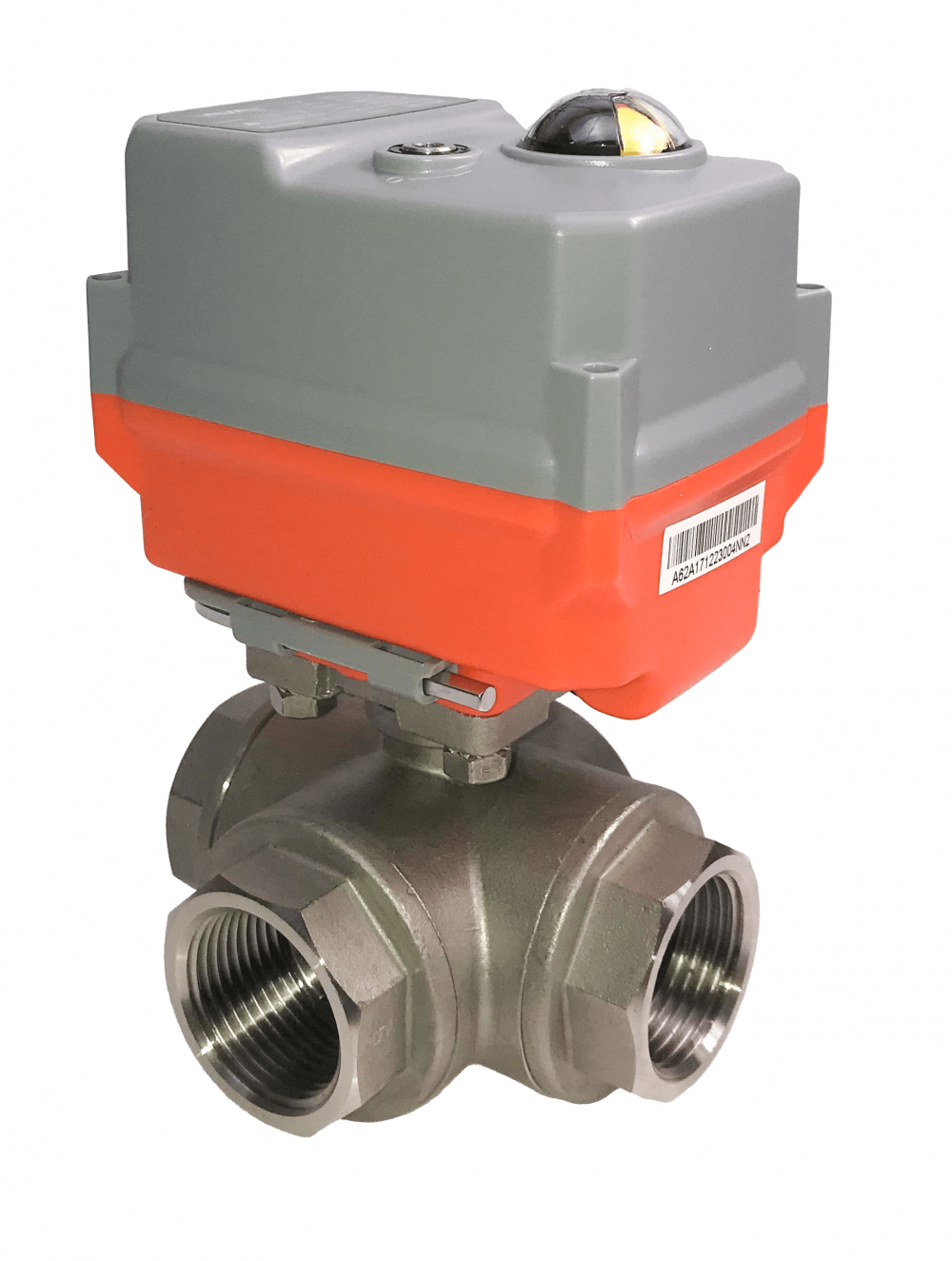 On-Off GE Economy 3 Way Stainless steel ball valves with AVA Basic electric actuator