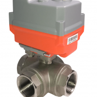 On-Off Mars 3 Way Stainless steel ball valves with AVA Basic electric actuator