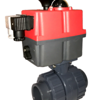 Hidroten Motorised PVC Ball Valve with J+J Electric Actuator from AVS