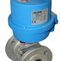 Flanged ASA150 Stainless steel ball valves with plastic Valbia electric actuator