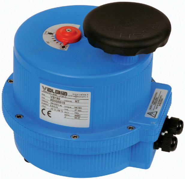 Modulating Valbia electric actuator with plastic housing