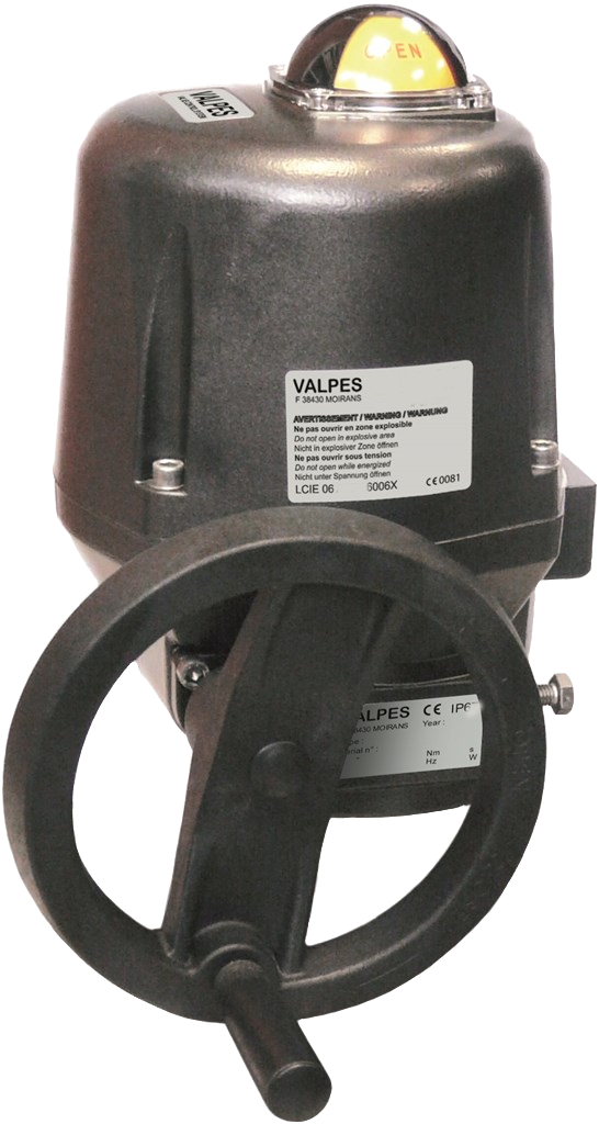Valpes VR-VS electric actuator with on-off function
