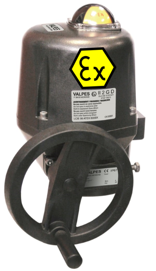 Valpes VRX-VSX Exd electric actuator with modulating function
