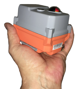 Failsafe electric actuator in a hand