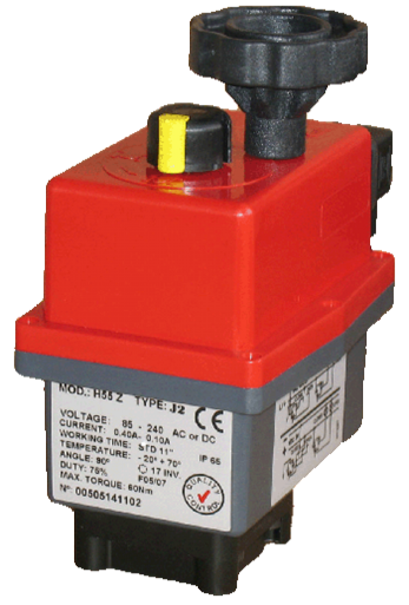 J2-L55 On Off Electric Actuator Maximum 60Nm for 24V