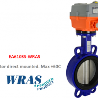 WRAS Approved Electric On-Off Iron Butterfly Valves with AVA Electric Actuator