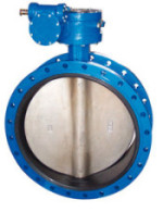 PN10/16 Flanged Type Stainless Steel Butterfly Valve