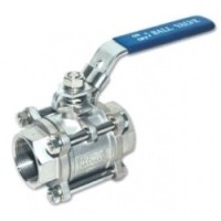 3pc Ball Valve. PN-63. Stainless Steel. Screw Ends BSP.