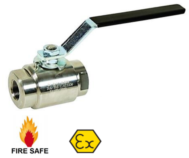 Class 800 Stainless Steel Ball Valve with Threaded BSP/NPT Ends