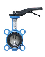 PN16 Stainless Steel / NBR Wafer Type Butterfly Valve for Air and Water